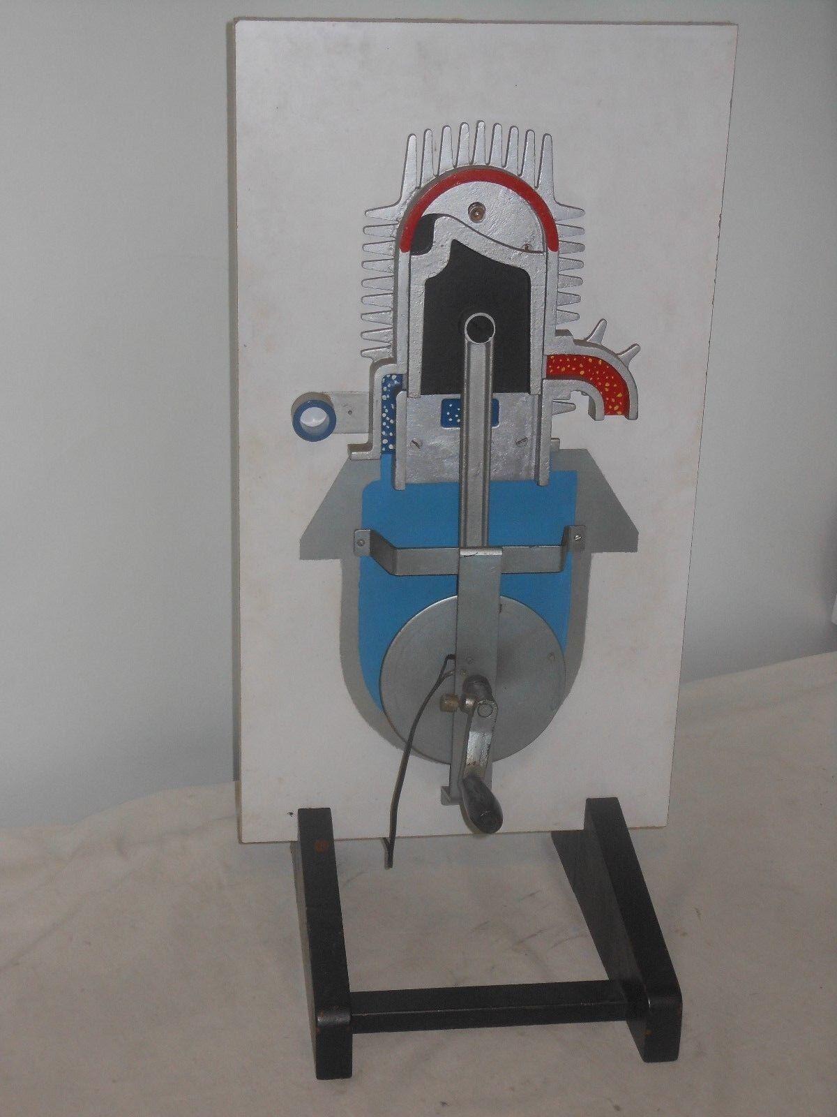 Santa Claus arrive Vintage grand moteur moteur moteur lehrmodell-Fahrschulmodell-Coupe modèle-hauteur 67 cm | Luxuriante Dans La Conception  60814f
