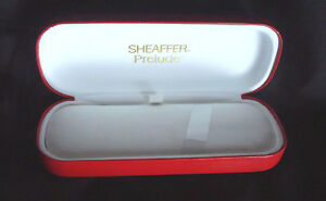 100% De Qualité Red Sheaffer Prelude Fountain Pen Case For 3 Pens, Vintage Collectable, Hinge AgréAble à GoûTer