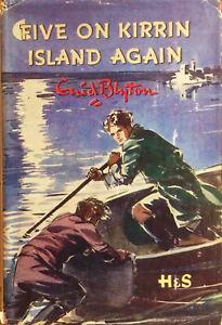 ENID-BLYTON-FAMOUS-FIVE-ON-KIRRIN-ISLAND-AGAIN-VINTAGE-HARDBACK-WITH-DW-DJ-1956