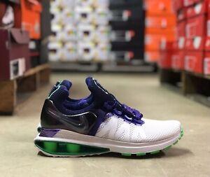 Nike-Shox-Gravity-Womens-Running-Shoes-White-Violet-Green-AQ8554-105-NEW-All-Szs