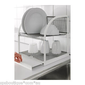 Image Is Loading Ikea Dish Drainer Rack Cutlery Plates Tray Drying