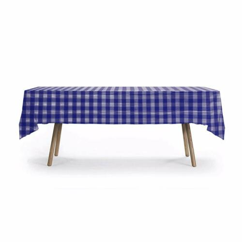 3 PACK HEAVY DUTY Disposable Table Cover Plaid Tablecloth Perfect for Picnic