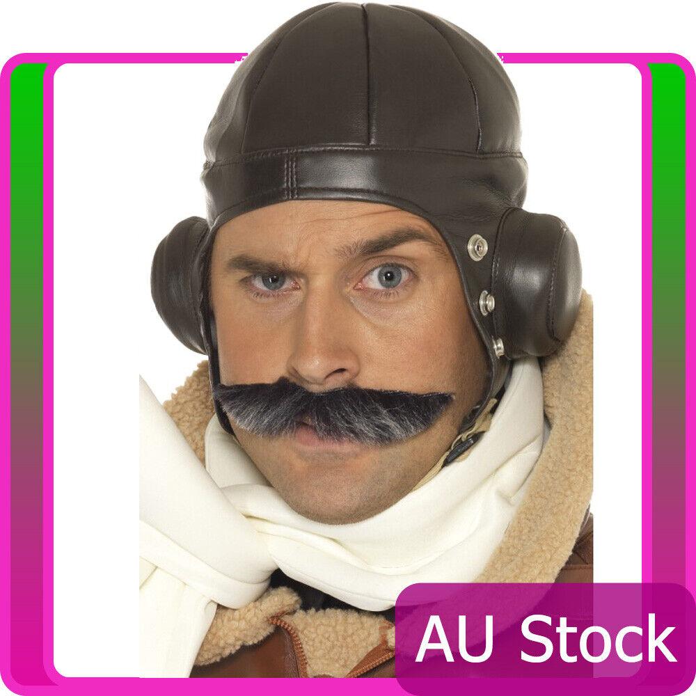 Mens Flying Hat Retro Men Winter Warm Earmuff Aviator Pilot 40s WW2 Trapper Cap