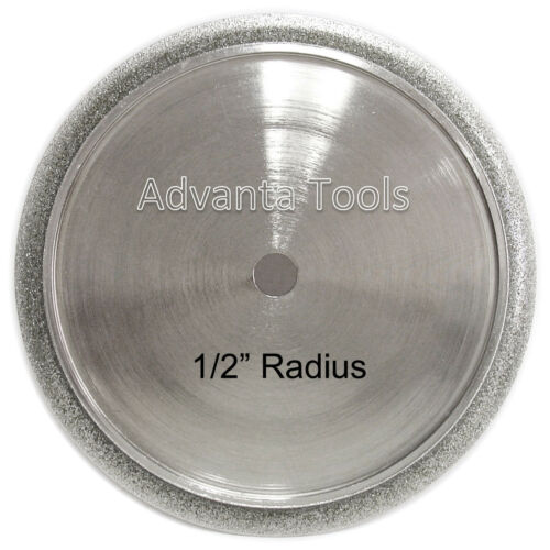 "1//2"" Radius Shape B Demi Bullnose 6"" Electroplated Profile Wheel for Granite"