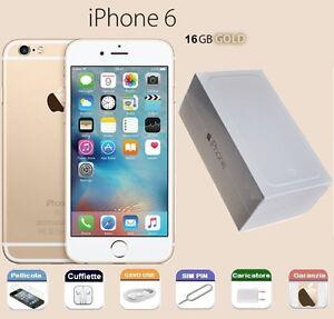 APPLE-iPhone-6-16gb-GRADO-A-COME-NUOVO-SCATOLA-GARANZIA-RIGENERATO-GOLD-ORO