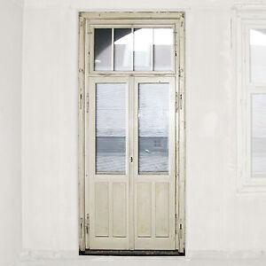 alte Gründerzeit Doppelflügel Holz Glas Tür mit Oberlicht ...