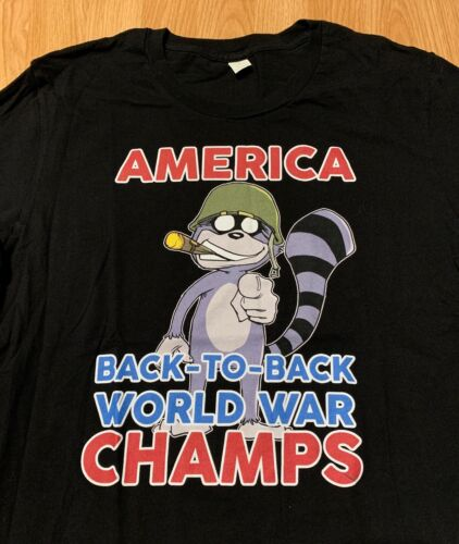 America Back To Back World War Champs T-Shirt Size