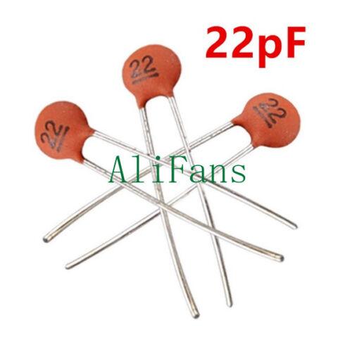 50PCS 50V Ceramic Capacitor DIP 22pF 85℃ ±20/% 2.5x Rated Voltage 10℃ to