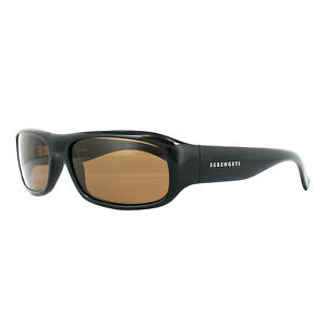 2769ceed58 Image is loading Serengeti-Sunglasses-Genova-7449-Shiny-Black-Drivers-Brown-