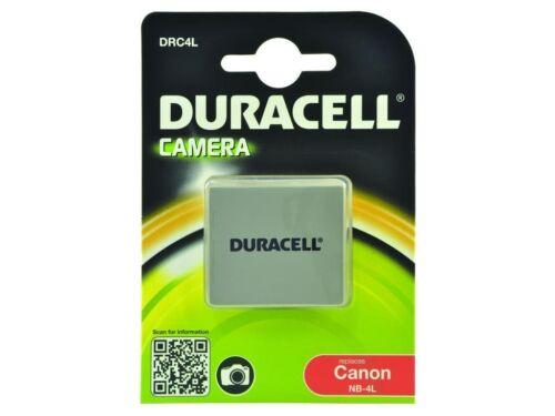 Duracell NB-4L 720 mAh 3.7 V Batería para Canon IXUS 30 40 50 55 Powershot SD30 40