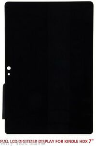 """LCD Digitizer Glass Screen Display Replacement for Amazon Kindle Fire 3rd 7"""" HDX"""