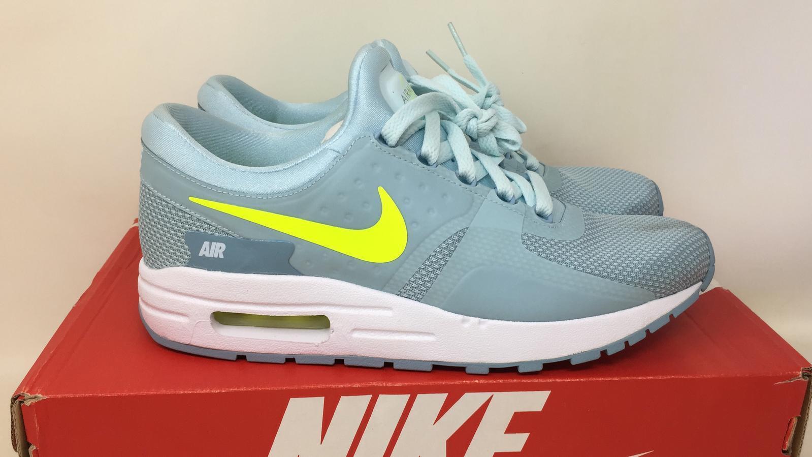 Girls Nike Air Max Zero Essential GS 881229 400 Glacier Blue Size 6.5y