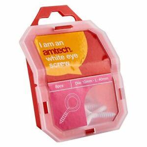 à Condition De Amtech 40 Mm Eye Crochet (blanc) (8pc)-afficher Le Titre D'origine DernièRe Technologie