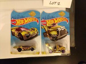 Hot Wheels Meijer Exclusive GOLD Limited Promo Cars Rig Storm Blitzspeeder LOOSE