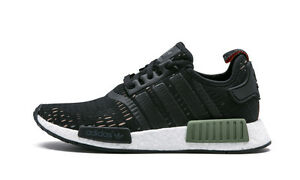 Men's Adidas NMD R1 Base Green/Core Black-White BB1357 DS SZ 7-13 US NWT DS USA
