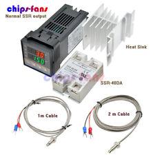 Rex C100pid Thermostat Temperature Controller1m2mk Thermocouple Ssr 40da Relay