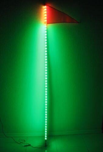6 Feet Quick Release ATV UTV LED Light Whip with Flag White