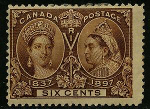 Canada 1897 Unitrade # 55 Mint Hinged Fine / Very Good