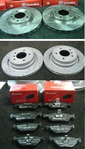 BMW Z3 1.9 E36 FRONT BRAKE DISC CROSS DRILLED GROOVED BRAKE PADS FRONT MINTEX