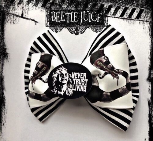 Beetlejuice hair bow Horror Halloween