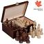 Staunton-No-6-Tournament-Chess-Pieces-in-Wooden-Box-3-9-Inch-King thumbnail 1