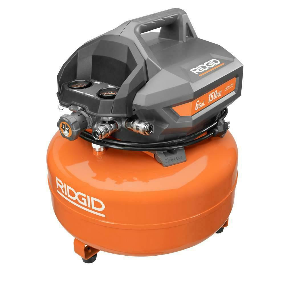 Ridgid Air Compressor Pancake Portable Electric Power Cord 150 psi Max 6 Gal.