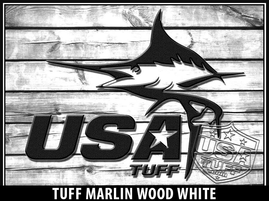 USATuff Cooler Wrap Decal Decal Wrap 'Fits New Mold' RTIC 65QT FULL Marlin Wood Weiß 8e1d4f
