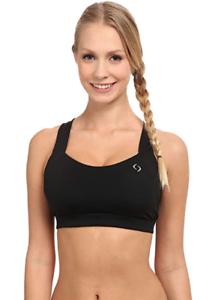 Brooks-Women-039-s-Black-Uplift-Crossback-Bra-Size-L-11011