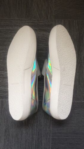 Nuovo Shoes Hologram Slip On White Rainbow xfTXaTY