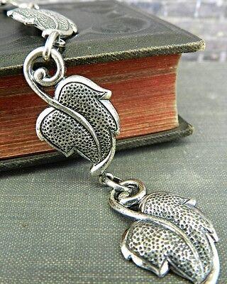 Vintage Danecraft Sterling Silver Leaf Link Bracelet