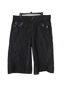 Black-Fubu-Bermuda-Shorts-14-Women-New