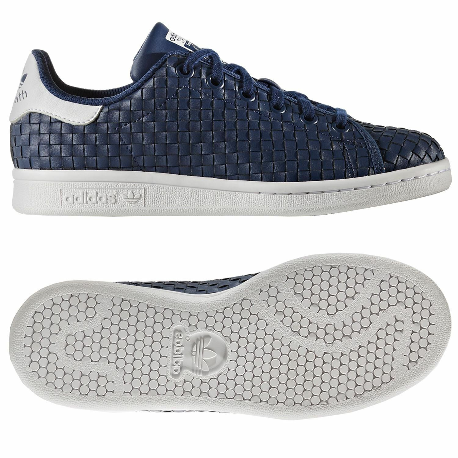 Adidas originals stan trainer smith junior - trainer stan Blau marine frauen kinder trefoil neue e64687