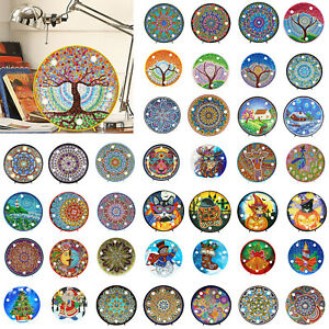 Mandala-DIY-Full-Diamond-Painting-LED-Light-Cross-Stitch-Craft-Embroidery-Lamps