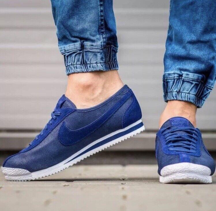 New Nike Cortex '72 Men's Size 9.5 Loyal Blue Metallic Pewter White 863173-400