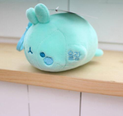 "Molang 5/"" Lieing Cute Rabbit Bunny Plush Stuffed Mochi Doll Toy Key Holder Bag"