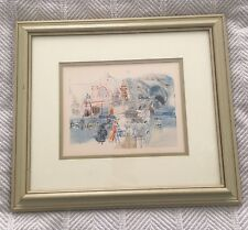 RAOUL DUFY landscape with falaise VINTAGE FINE ART POSTER trees cabin 24X36