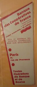 Antique-Brand-Pages-Bookmark-Advertising-Bank-of-Cooperatives-of-France