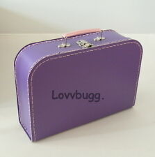 "Purple Sm Doll Trunk Suitcase for 18"" American Girl Lovvbugg Has Best Selection!"