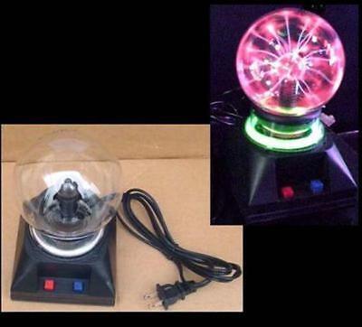 PLASMA LIGHTNING 4 INCH BALL party lights static lite ELECTRIC LIGHT GLASS NEW