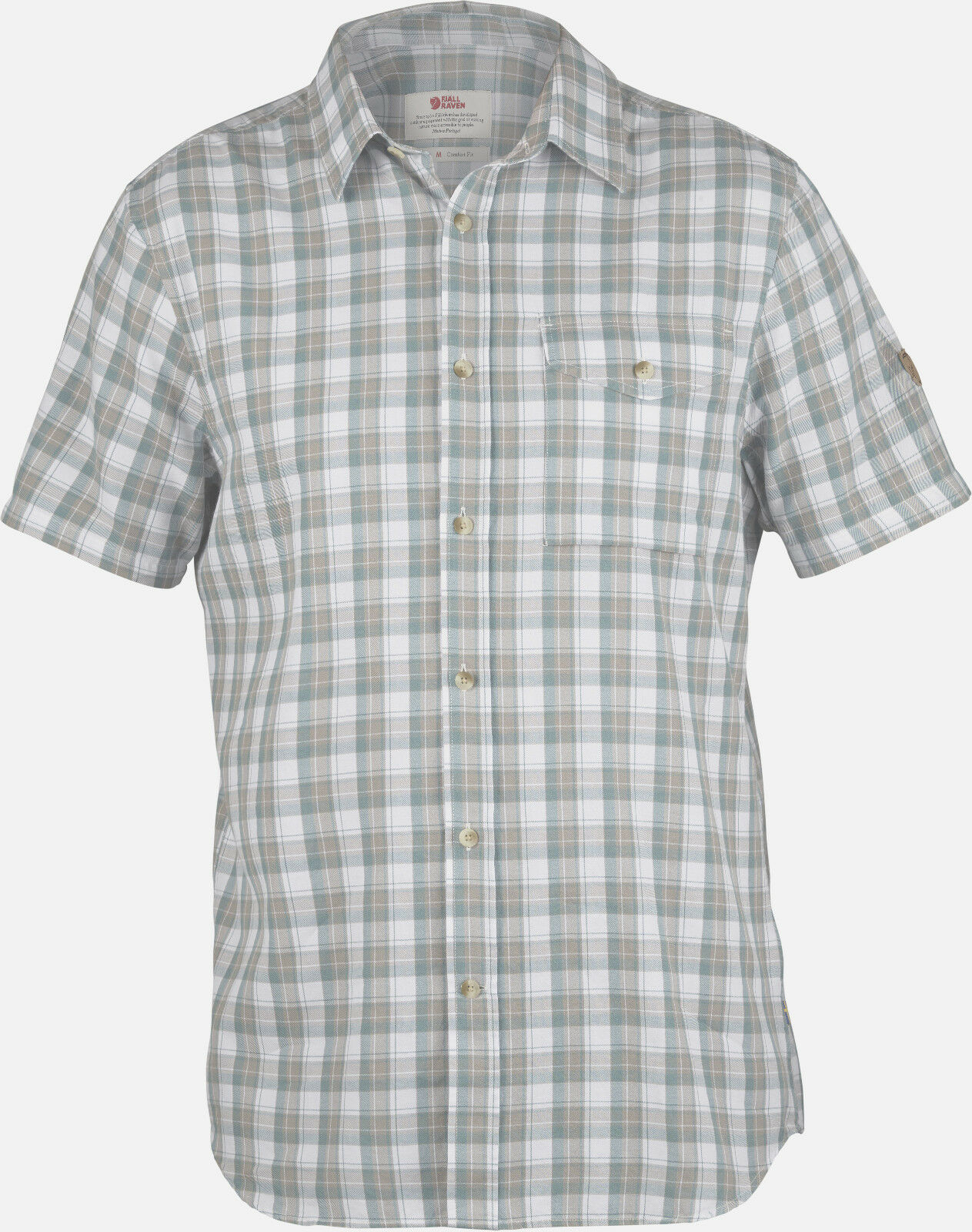 Fjällräven Singi Shirt Ss 82446 Fog Messieurs Haut de plein airhemd Wanderhemd