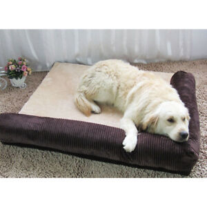 Soft-Warm-Orthopedic-Pet-Dog-Memory-foam-bed-mat-With-Removable-Cover