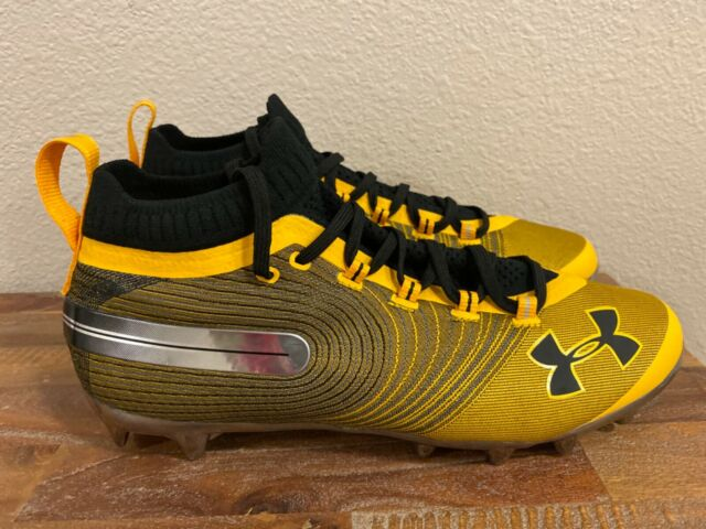 Under Armour Spotlight Mc Football Cleats Yellow Black 3020675 700 Men Sz 10 5 Ebay