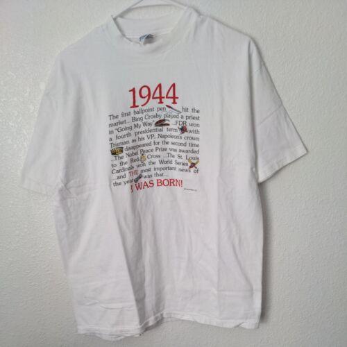 Vintage Single Stitch 1944 I Was Born Frances Mey… - image 1