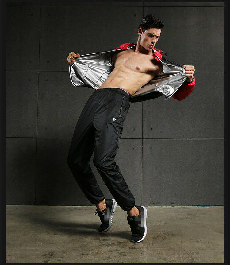 Men's Fitness Sweat Suits Suits Suits Hood Long Sleeve Sauna Suits Running Sports Clothes  prezzi all'ingrosso