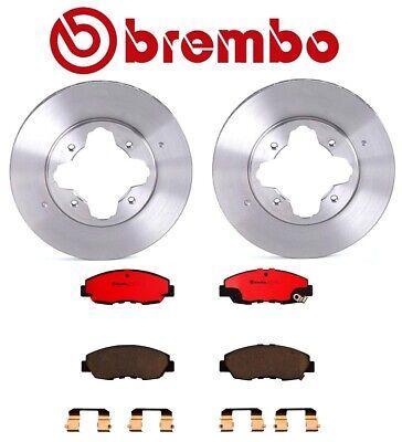 Front Brake Rotors and Ceramic Pads 1990-1992 1993 ACCORD AKEBONO FRONTCALIPERS