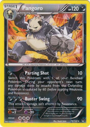 75//122 Rare 4x Pangoro Breakpoint Reverse Holo NM-Mint Pokemon XY