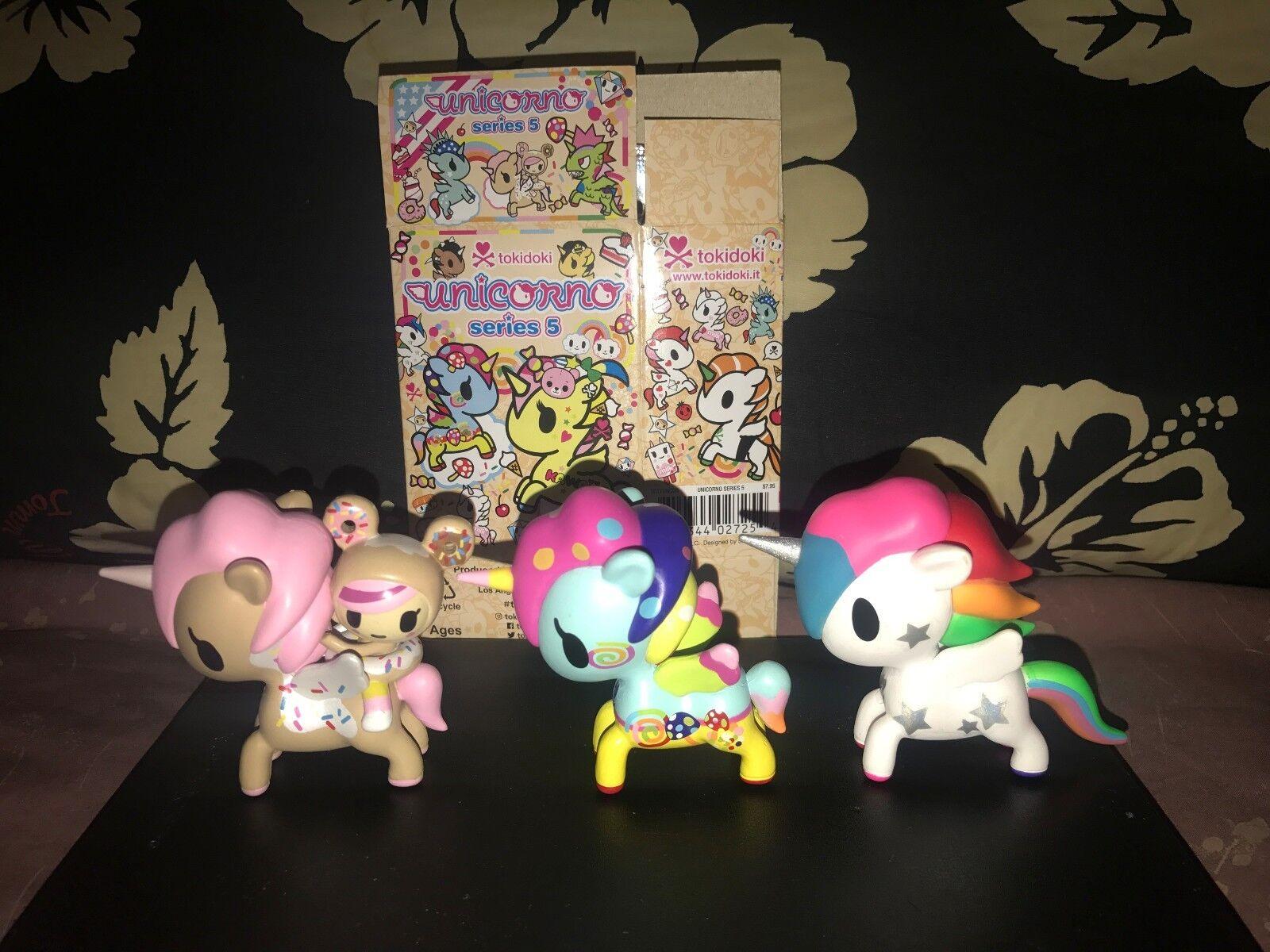 Tokidoki Unicorno Series 5 Lot of 3-Soulmates, Kinoko, Prisma with Box & Foil