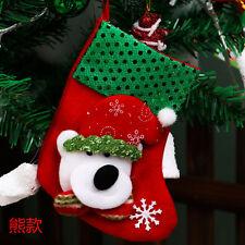 Festival Party Xmas Christmas Santa Socks Cute Ornaments Tree Hanging Decoration