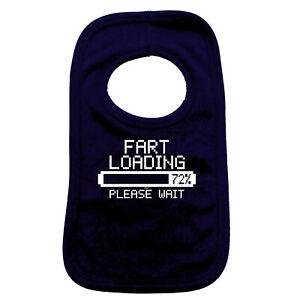Loading Nappy Please Wait Funny Baby Feeding Bib Vest Novelty Gift