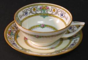 Antique-Vtg-Minton-Grasmere-Coffee-Tea-Cup-w-Saucer-set-Mustard-several-avail